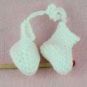 Chaussons miniatures bébé poupée