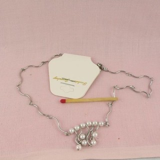 Chain with add a bead easy claps necklace 45 cms