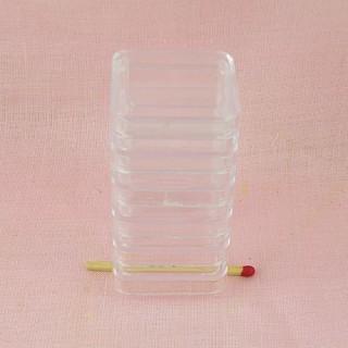 Boites rangement carrées superposables