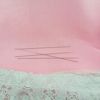 4 Aiguilles 0,8 mm à tricoter chaussettes pour habits poupée 1/12