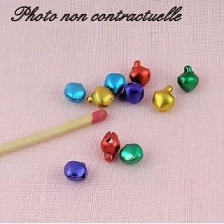 10 Grelots miniature couleur 6 mm.