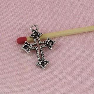 Breloque croix pour strass miniature