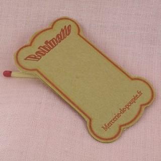 Carte bobine en carton pour fil et ruban