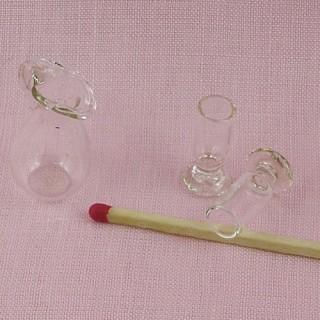 Cruche et verres miniatures maison poupée