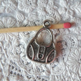 Breloque Sac à main métal besace miniature