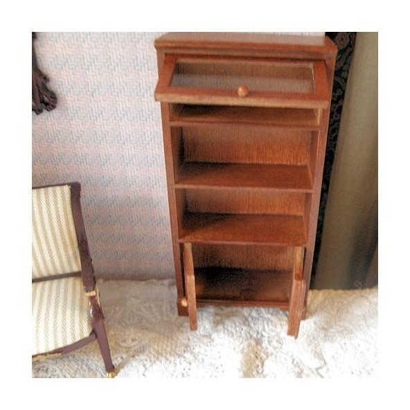 biblioth que vitrine argentier bois miniature maison. Black Bedroom Furniture Sets. Home Design Ideas