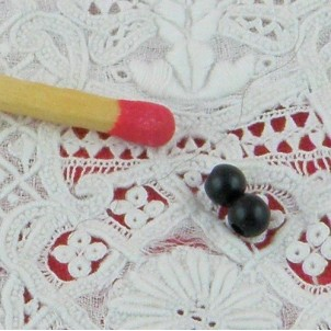 Yeux àcoudre peluche 3 mm