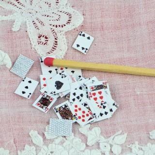 Jeu de cartes miniature 1/12ème