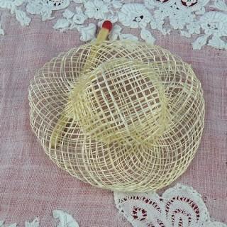Chapeau paille sisal à rebord 5 cm.