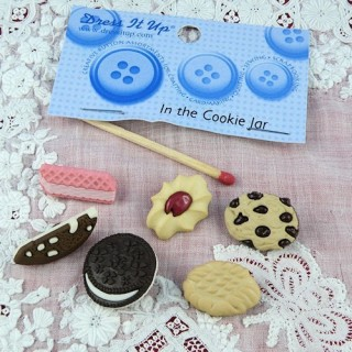 Bouton Dress it up petits gateaux patisserie cookies