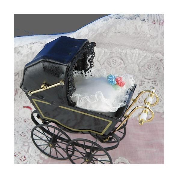 landau anglais miniature maison poup e miniature poup e 1 12 land. Black Bedroom Furniture Sets. Home Design Ideas