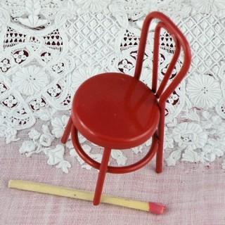 Chaise miniature fer bistrot bar maison de poupée