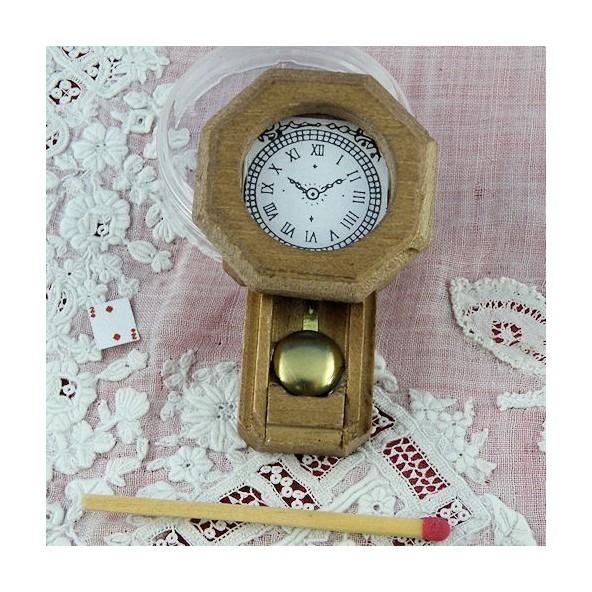 pendule miniature maison poup e bois 5 cm pendule murale