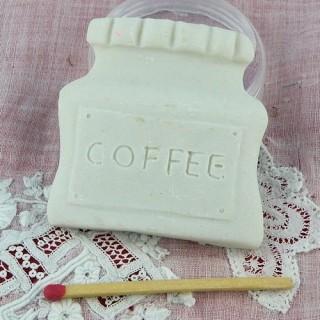 Magnet boite café résine aimanté 4 cm.