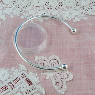 bracelet rigide argente vis accessoire création bijoux