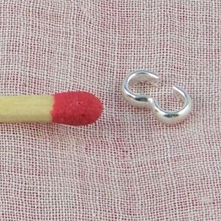 Anneau double connecteur bijoux 7 mm.