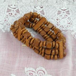 Bracelet perles bois sur élastique pas cher