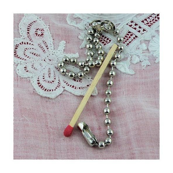 Chaînette porte clef boules 15 cm