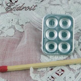 Plaque Moule miniature poupée 1/12ème 2 cm,