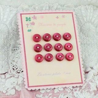 Carte rétro petits boutons nacrés 7 mm.