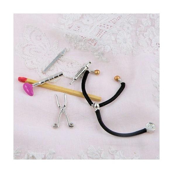 St thoscope m decin maison poup e accessoires minuscules for Accessoires decoratifs maison