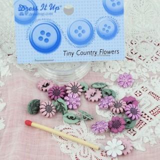 Bouton fleurs d'automne scintillantes Dress it up