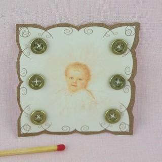 Carte boutons rétro bébé