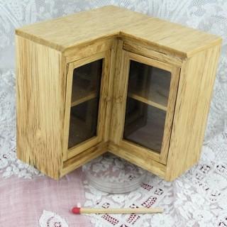 Meuble angle haut cuisine miniature maison poupée,