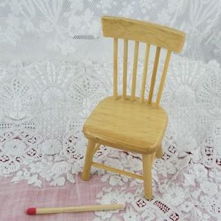 Siège miniature couture maison poupée 15 cm.