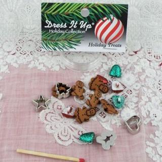 Bouton miniatures Noël scintillants Dress it up