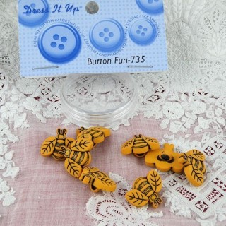 Boutons abeilles miniatures Dress it up