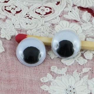 Yeux mobiles à coller peluche 10 mm
