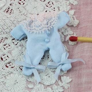 Pyjama Babygro miniature maison poupée 1/12eme