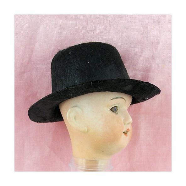 chapeau feutre poup e porcelaine grande taille 11 cm. Black Bedroom Furniture Sets. Home Design Ideas