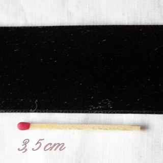 Rubans velours noir 36 mm,