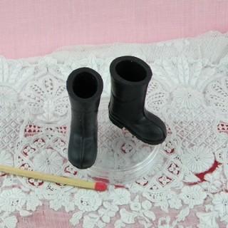 Paire bottes caoutchouc miniature 1/12 maison poupée