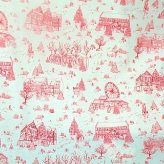Tissu de Noël Alsace toile coton au mètre