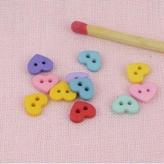 Petits Boutons coeur miniatures
