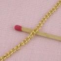Chaine 2 mm bijouterie maillons plats au mètre