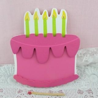Gâteau bois décoration enfant 10 cm.