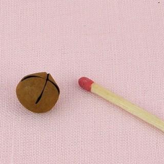 Grelot mini clochette métal poupée 9 mm.