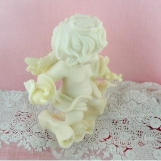 Ange colombe putti,cupidon figurine résine 12 cm.