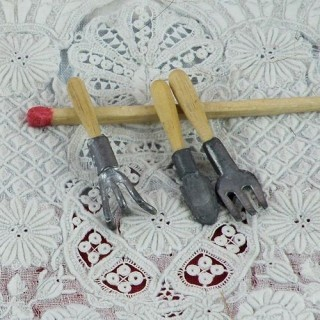 Outils miniatures jardin pelle gouge grattoir