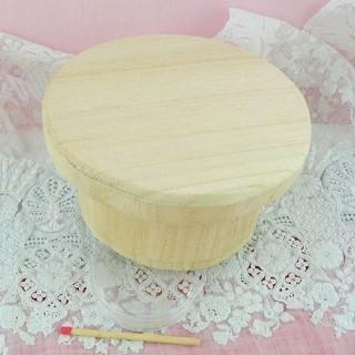 Boite bois ronde à décorer