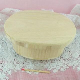 Boite bois ovale à décorer