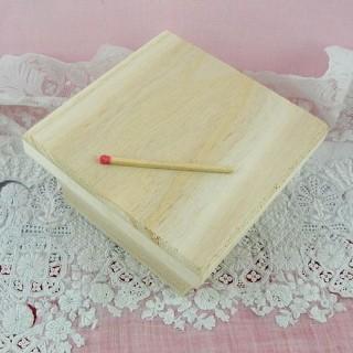 Boite bois carrée à décorer