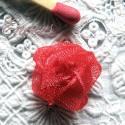 Rose en ruban, soie, satin organdi