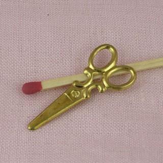 Ciseaux métal doré, 3,2cm.