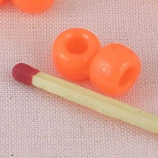 10 Perles halloween orange 8 mm.