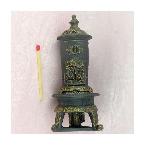 poele ancien miniature maison poup e superbe po le r tro miniatur. Black Bedroom Furniture Sets. Home Design Ideas